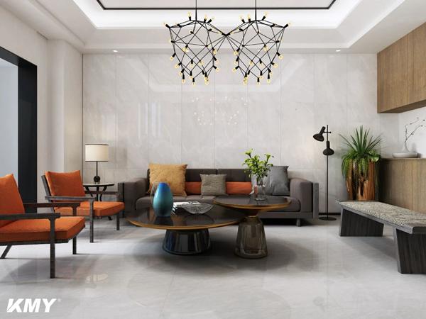 陶瓷十大品牌KMY国际轻奢瓷砖家里背景墙这样装格外出彩