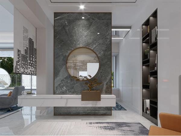 宏宇陶瓷750*1500mm瓷砖背景墙效果图