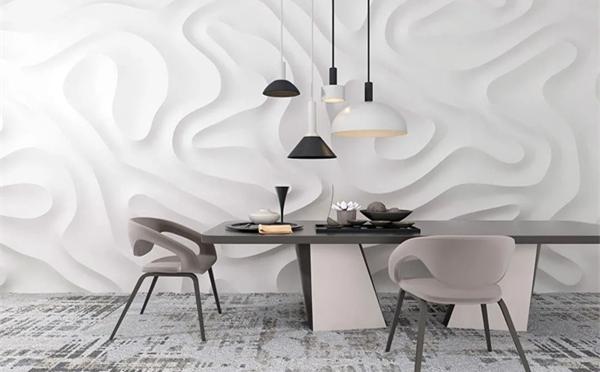 宏宇陶瓷岩板背景墙与地面的高级和舒适搭配