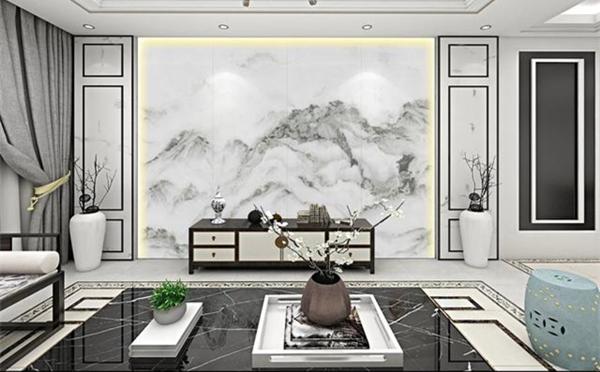 背景墙装修效果图,什么尺寸的岩板适合做背景墙