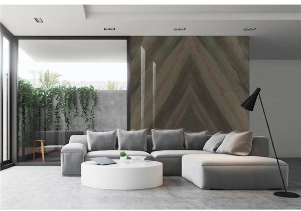 威尔斯陶瓷全屋岩板装修,岩板背景墙