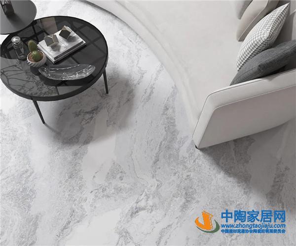 大角鹿超耐磨大理石瓷砖现代轻奢风