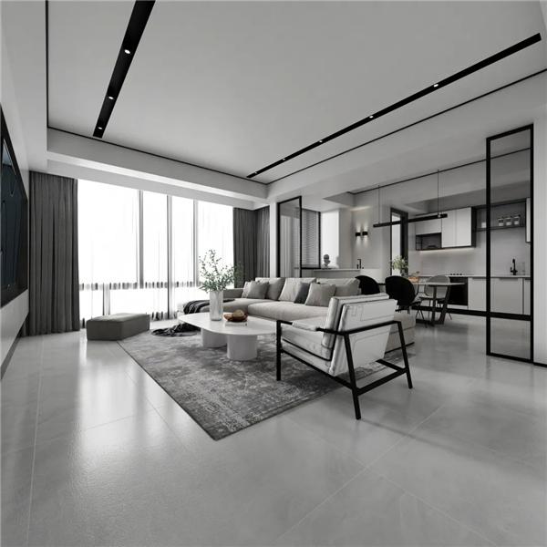 简约自然黑白灰,家居装修首选材料
