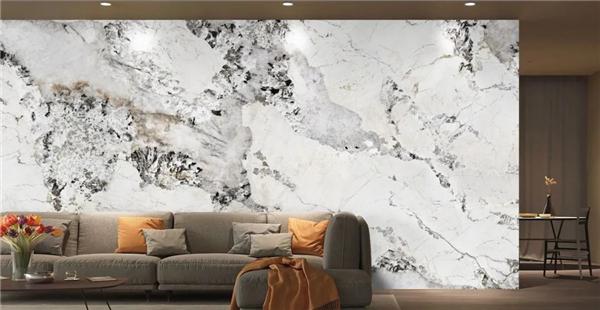 岩板背景墙效果图