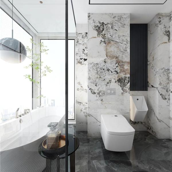 卫生间岩板背景墙效果图