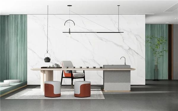 威尔斯陶瓷 MAX+ 岩板背景墙新玩法