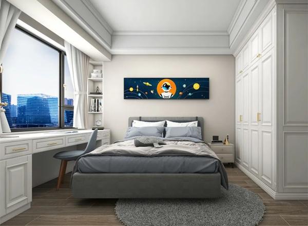 陶瓷十大品牌马可波罗144m²现代美式风装修效果图