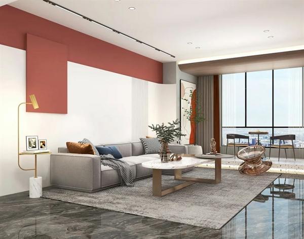 陶瓷十大品牌,马可波罗岩板家居中国红与白色完美搭配