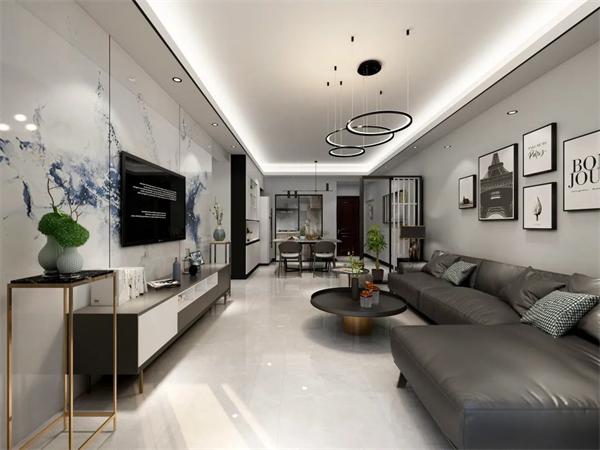 新南悦灰色系通体大理石让家居空间注入自然界艺术美感