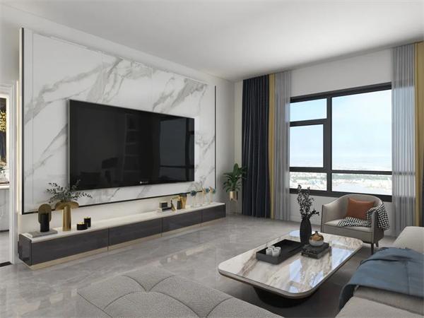 电视岩板背景墙