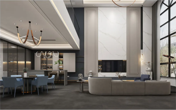 KMY国际轻奢瓷砖新品1200*2700mm岩板雕刻时光