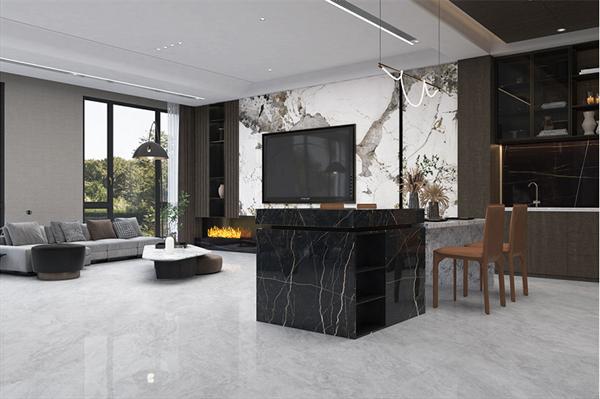 KMY国际轻奢瓷砖750x1500mm普拉灰