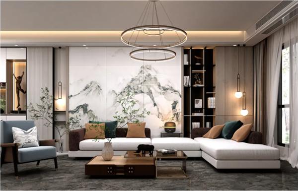 KMY国际轻奢瓷砖大板印象系列900*1800新云多拉灰