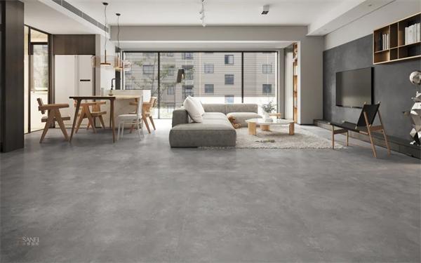 陶瓷十大品牌,兴辉国际900x1800意式水泥中灰岩板