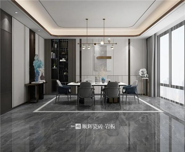 陶瓷十大品牌,顺辉750*1500mm无界连纹岩板